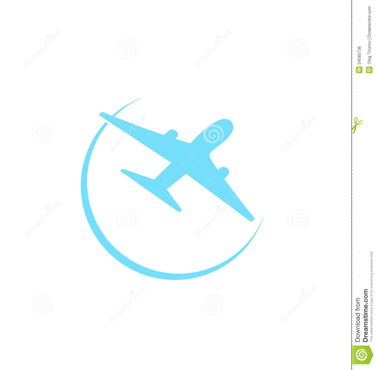 airplane symbol isolated on white background stock vector