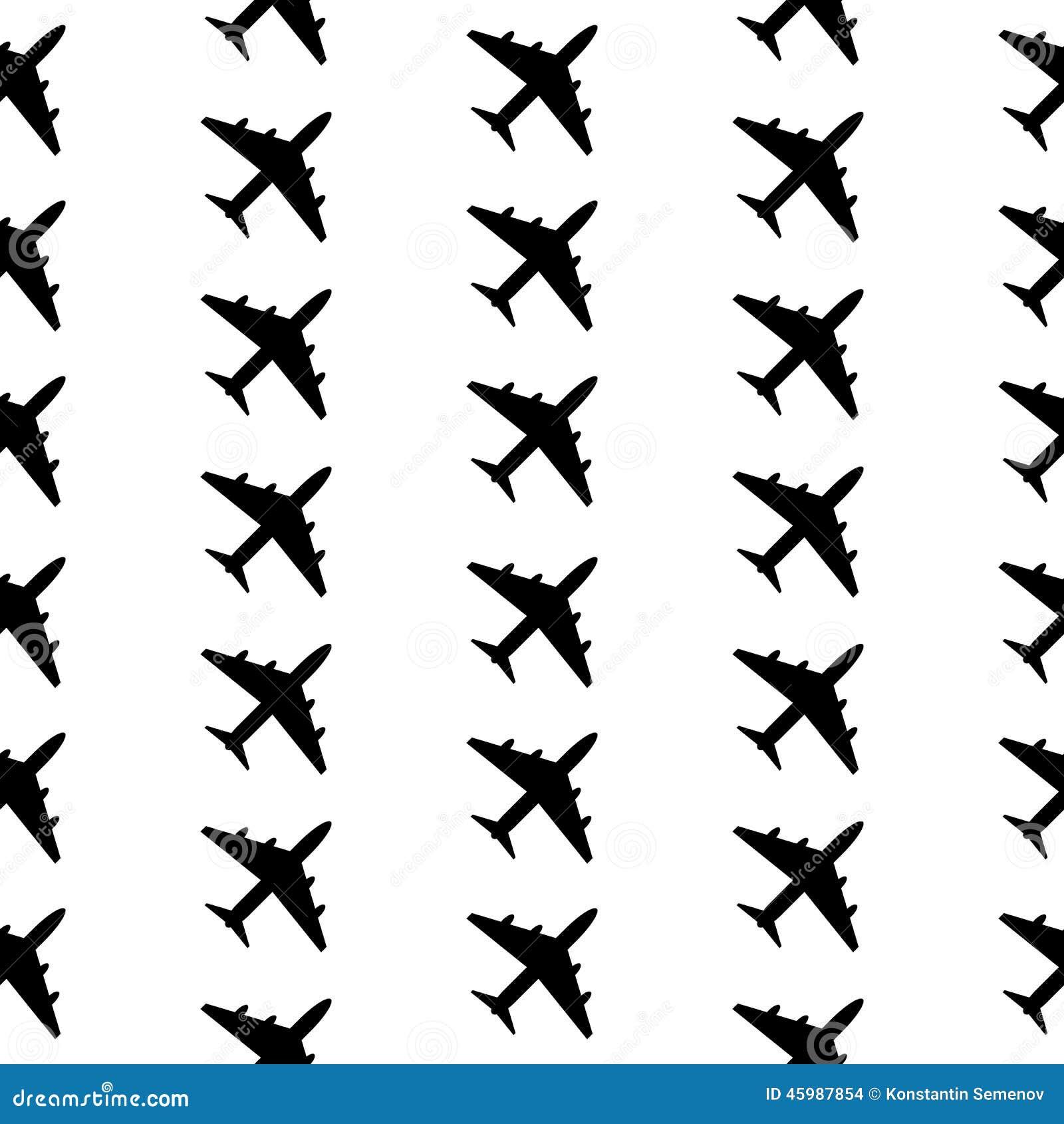 Airplane Symbol Seamless Pattern Stock Vector Illustration Of