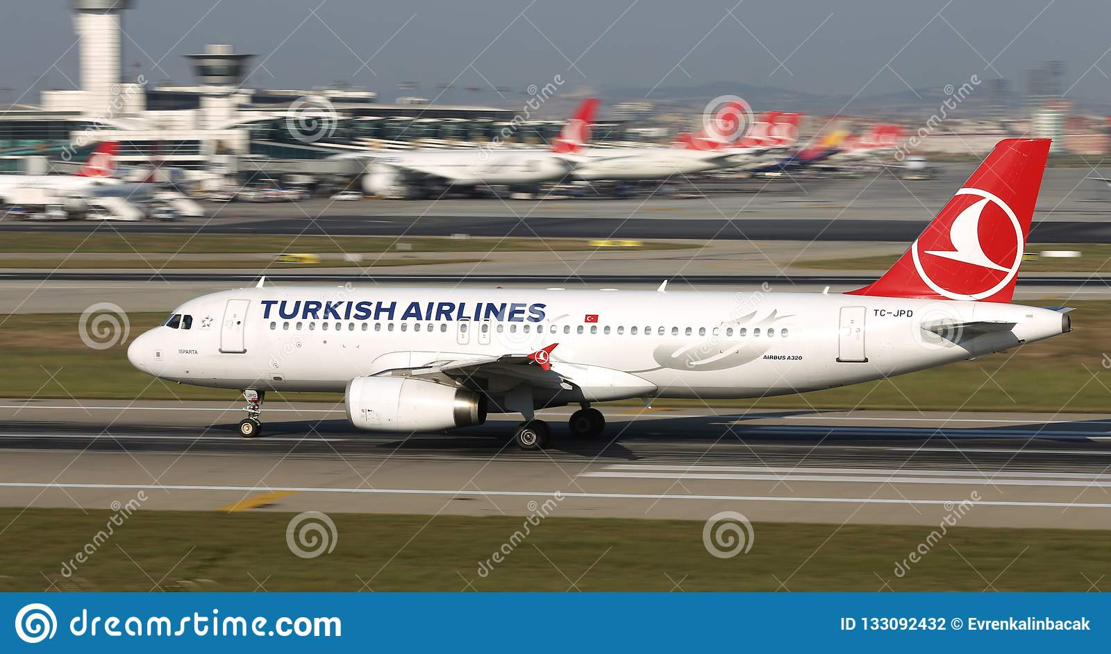 Airplane Takeoff From Airport Editorial Photography - Image