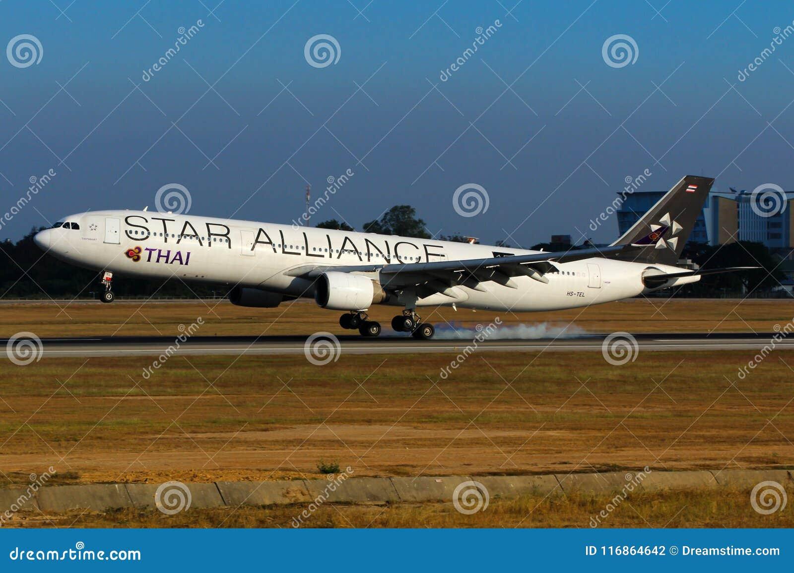 Airplane Of Thai Airways International Airbus A330 Star