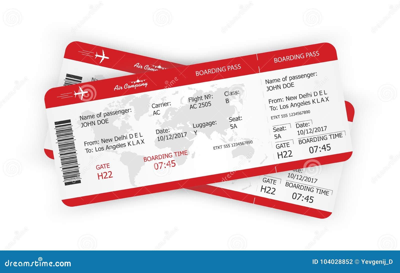 Boarding Pass Template Stock Illustrations – 889 Boarding Pass ...