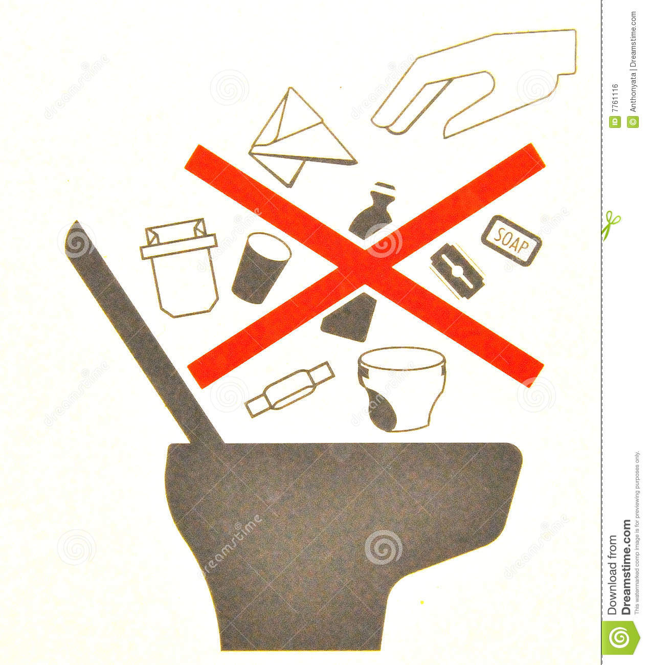 Airplane Toilet Signage Stock Photo  Image Of Detail  Sign