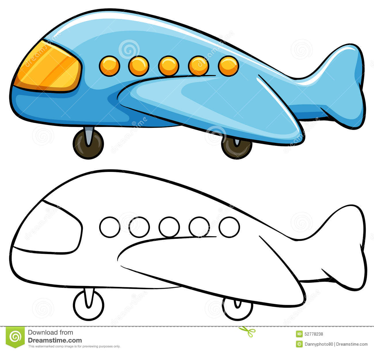 Airplane Stock Vector Illustration Of Taking Flying 52778238