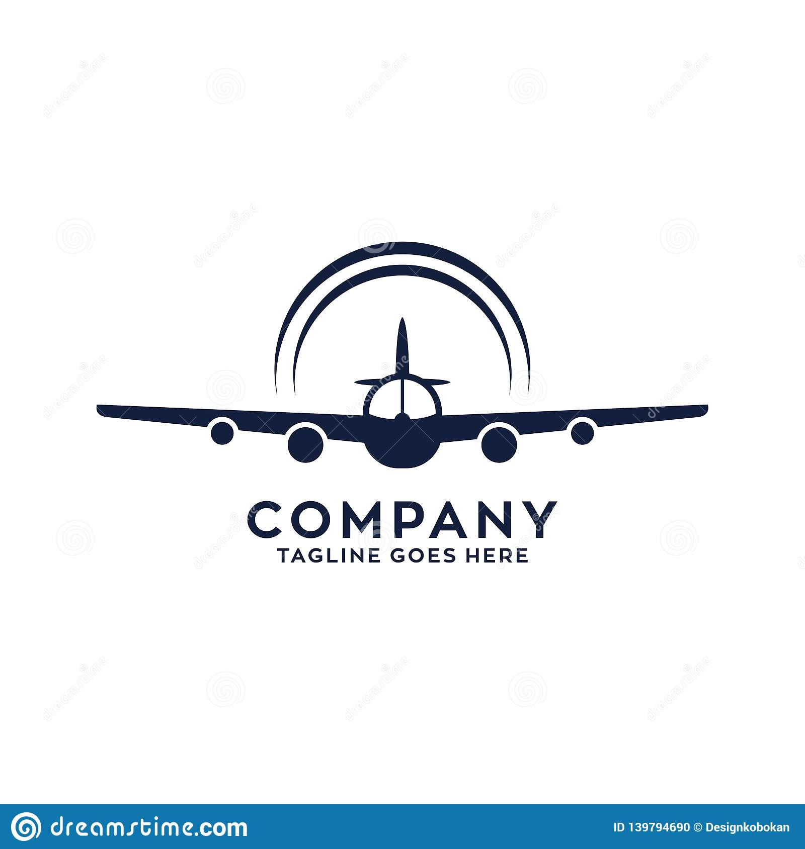 Airplane Or Trainer Plane Logo Design Stock Vector Illustration Of Shape Abstract 139794690