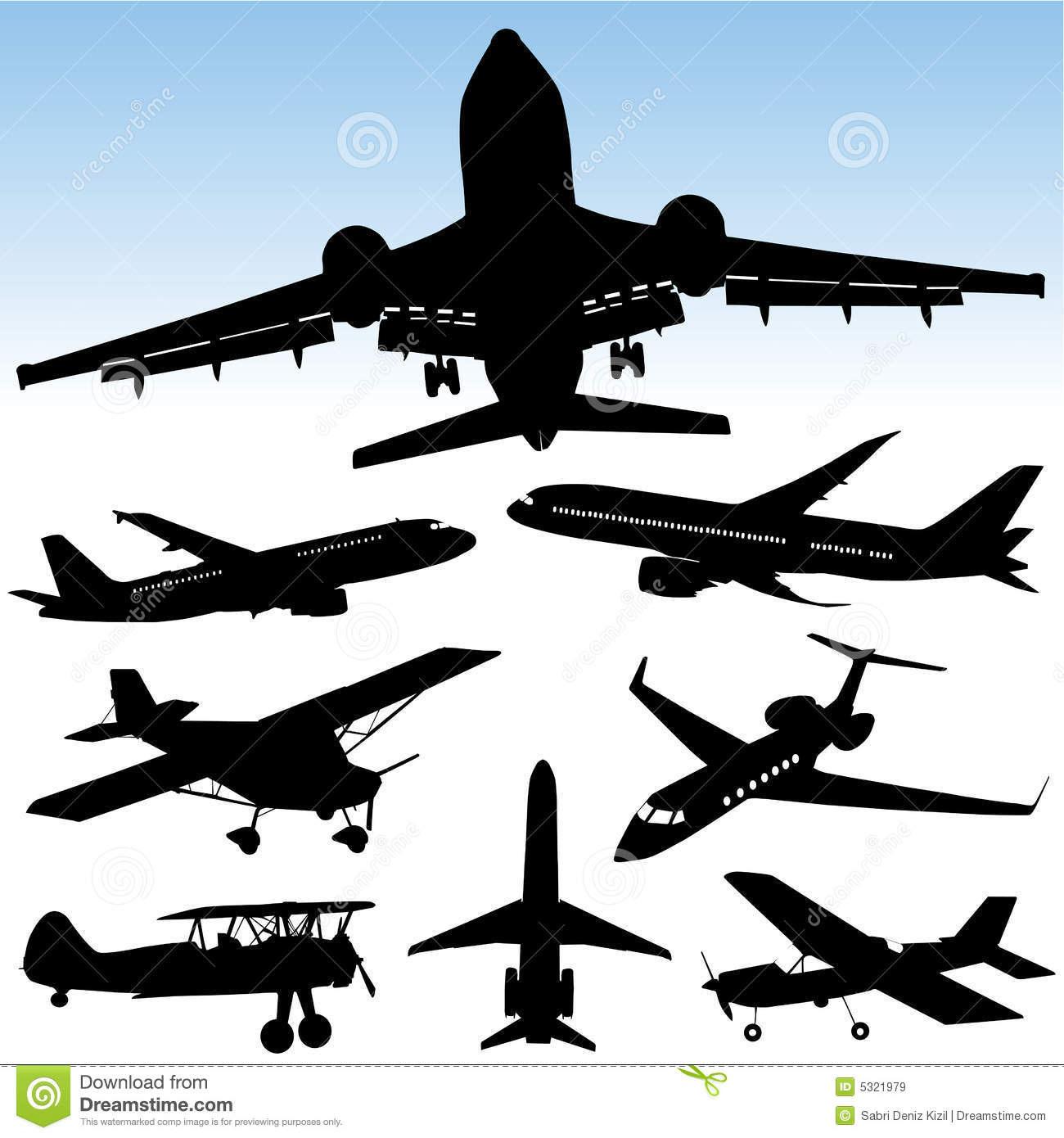 airplane vector stock vector illustration of airport 5321979