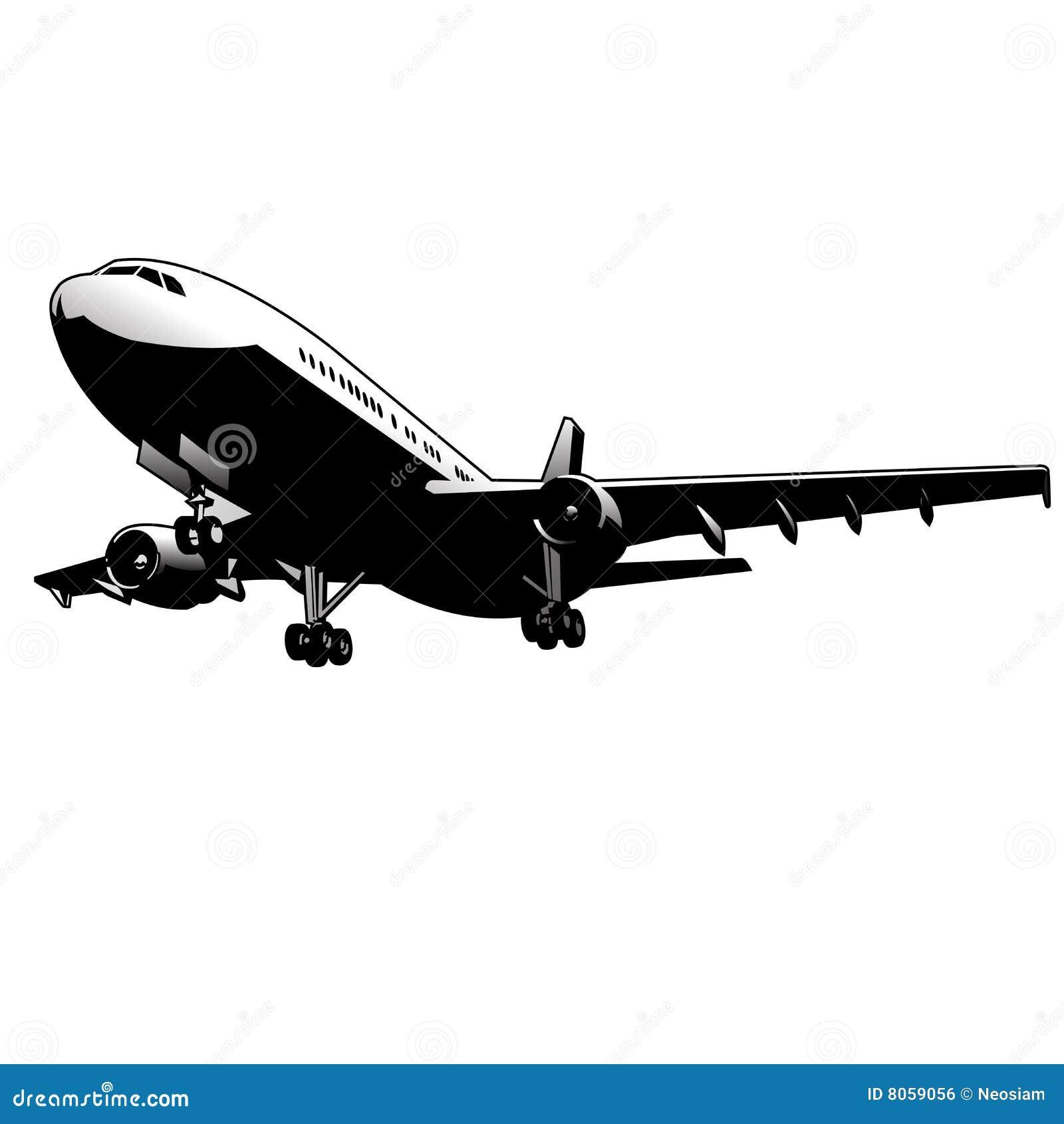 airplane plane airplane symbol stylized airplane stock vector