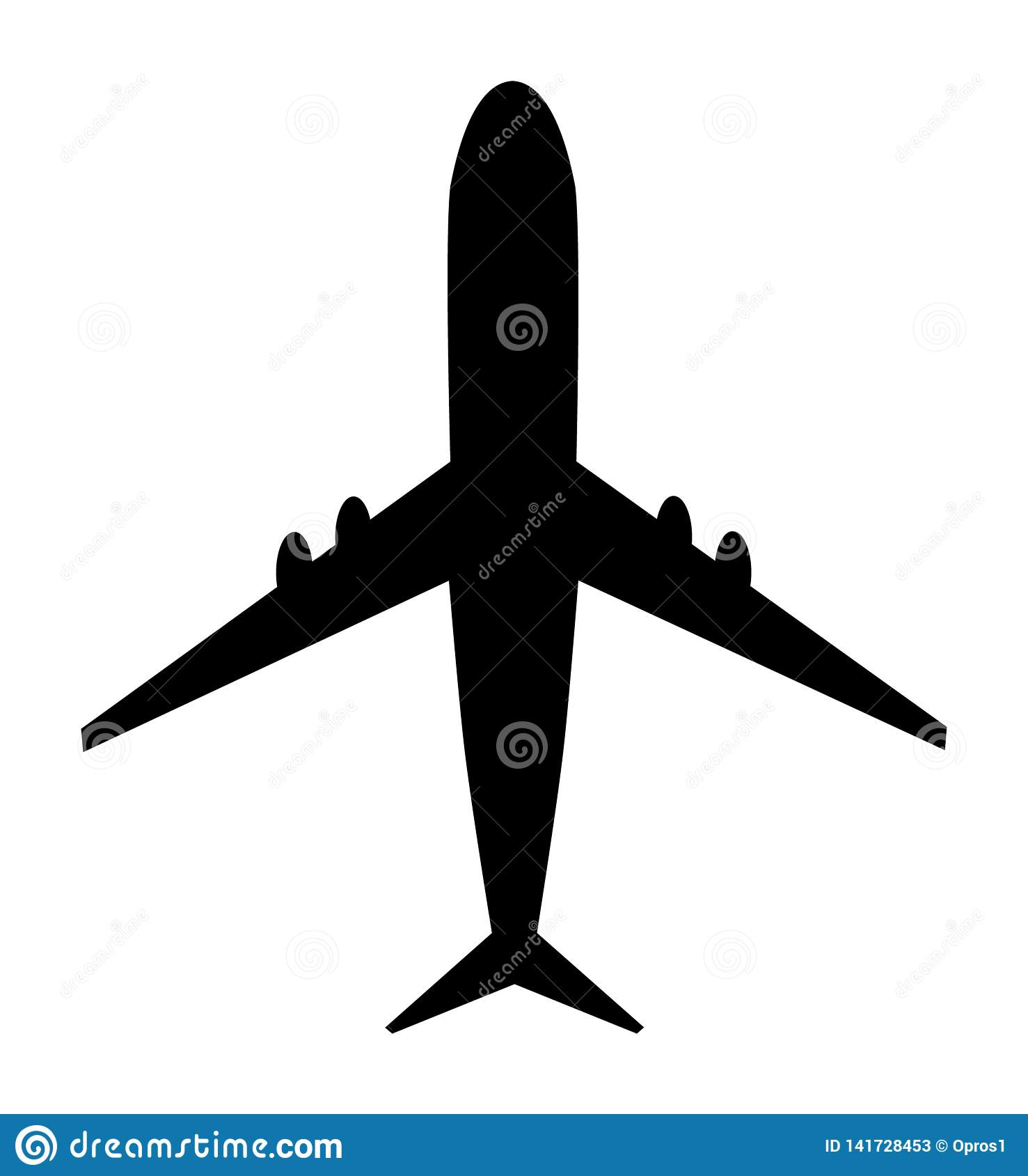Airplane vector icon. Modern design, Fly travel symbol on white background