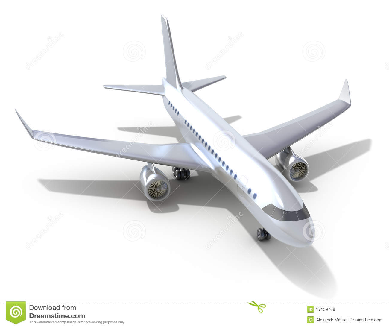 Airplane On White Background. Royalty Free Stock Images ...