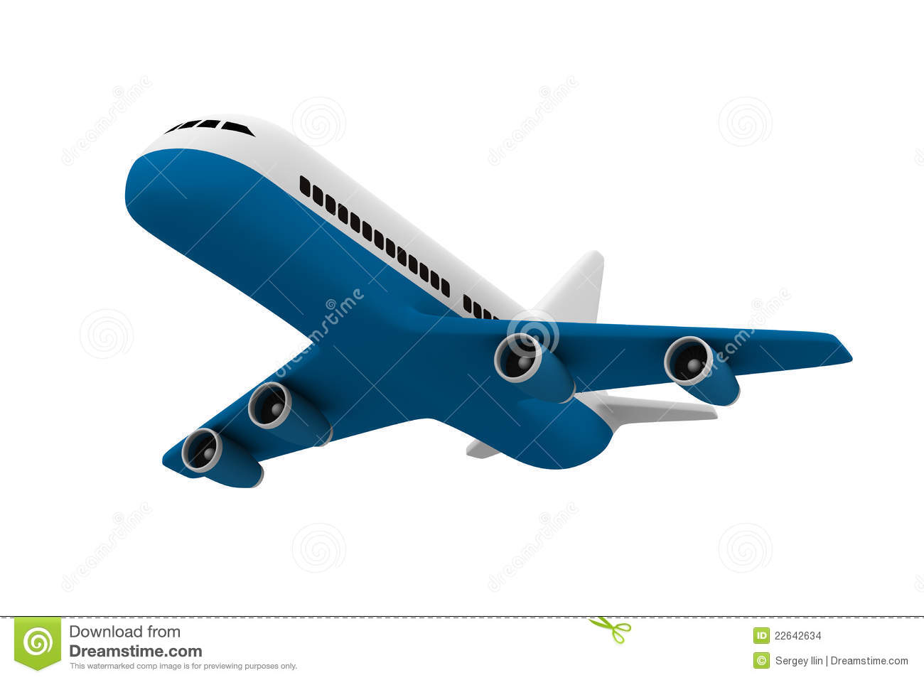 Airplane On White Background Stock Images - Image: 22642634
