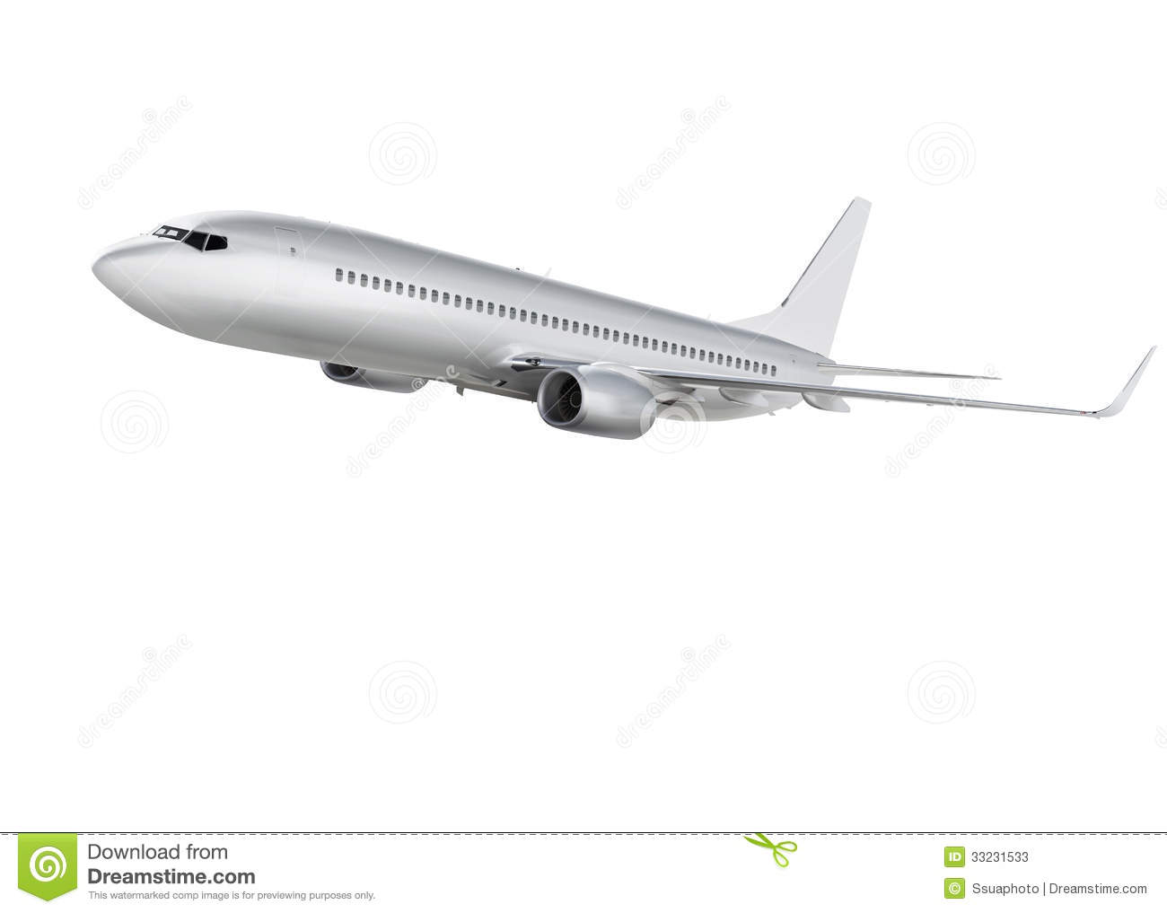 Airplane On White Background With Path Stock Photos ...