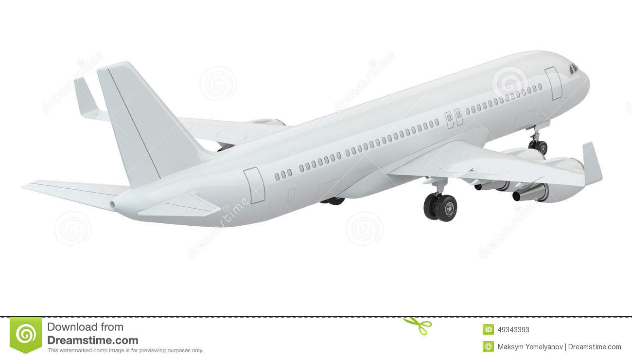 Airplane On White Isolated Background. Stock Illustration ...