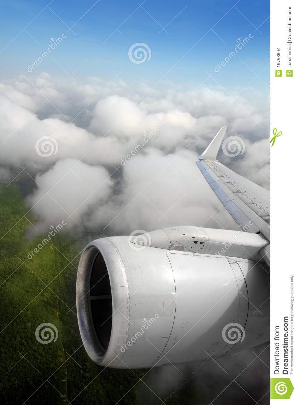 Download Airplane Wing Aircraft Turbine Flying Stock Photo - Image of nature, beauty: 19753694