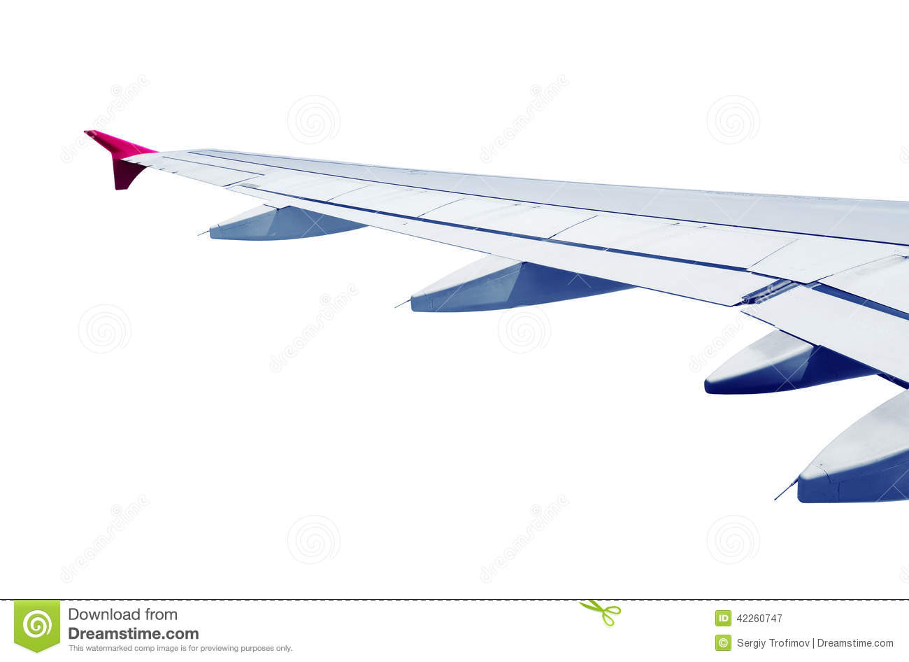 Airplane Wing Isolated Stock Photo - Image: 42260747