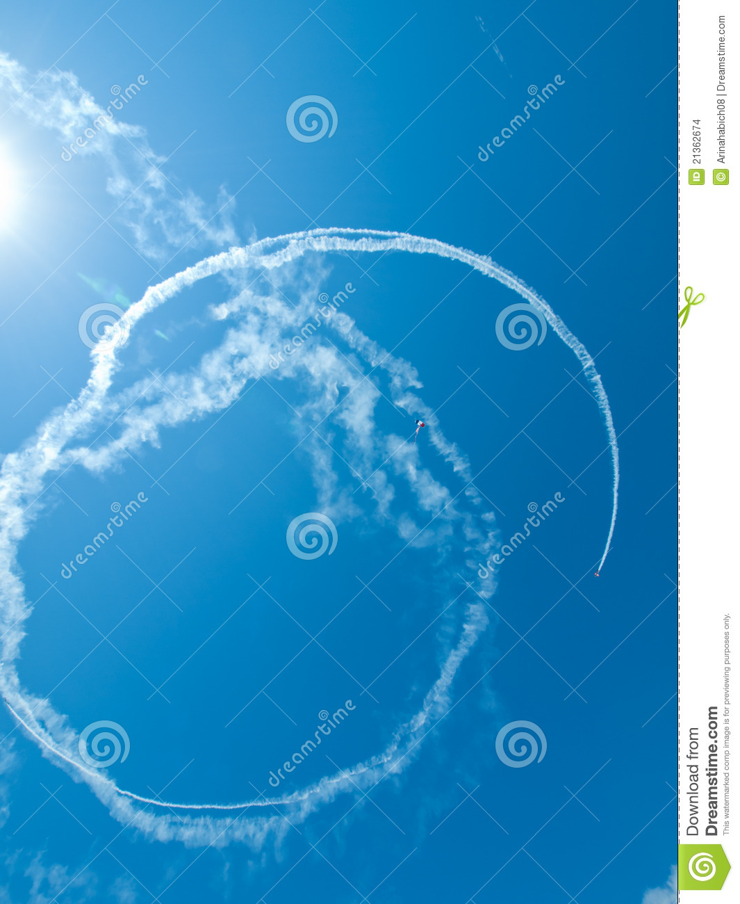 desa skywriting airplanes
