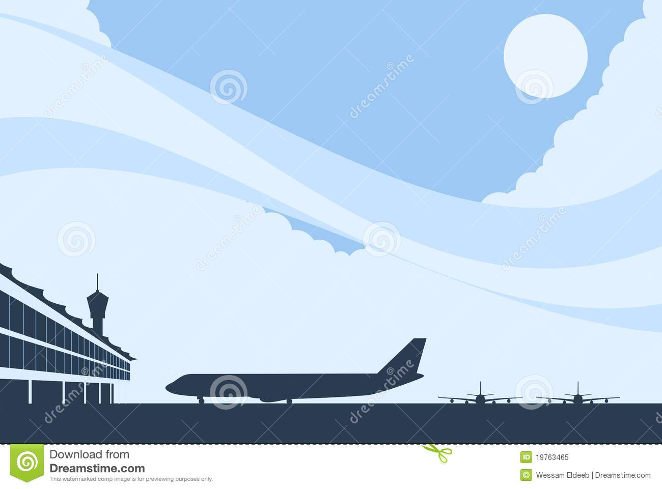 Airport Background Royalty Free Stock Photo - Image: 19763465