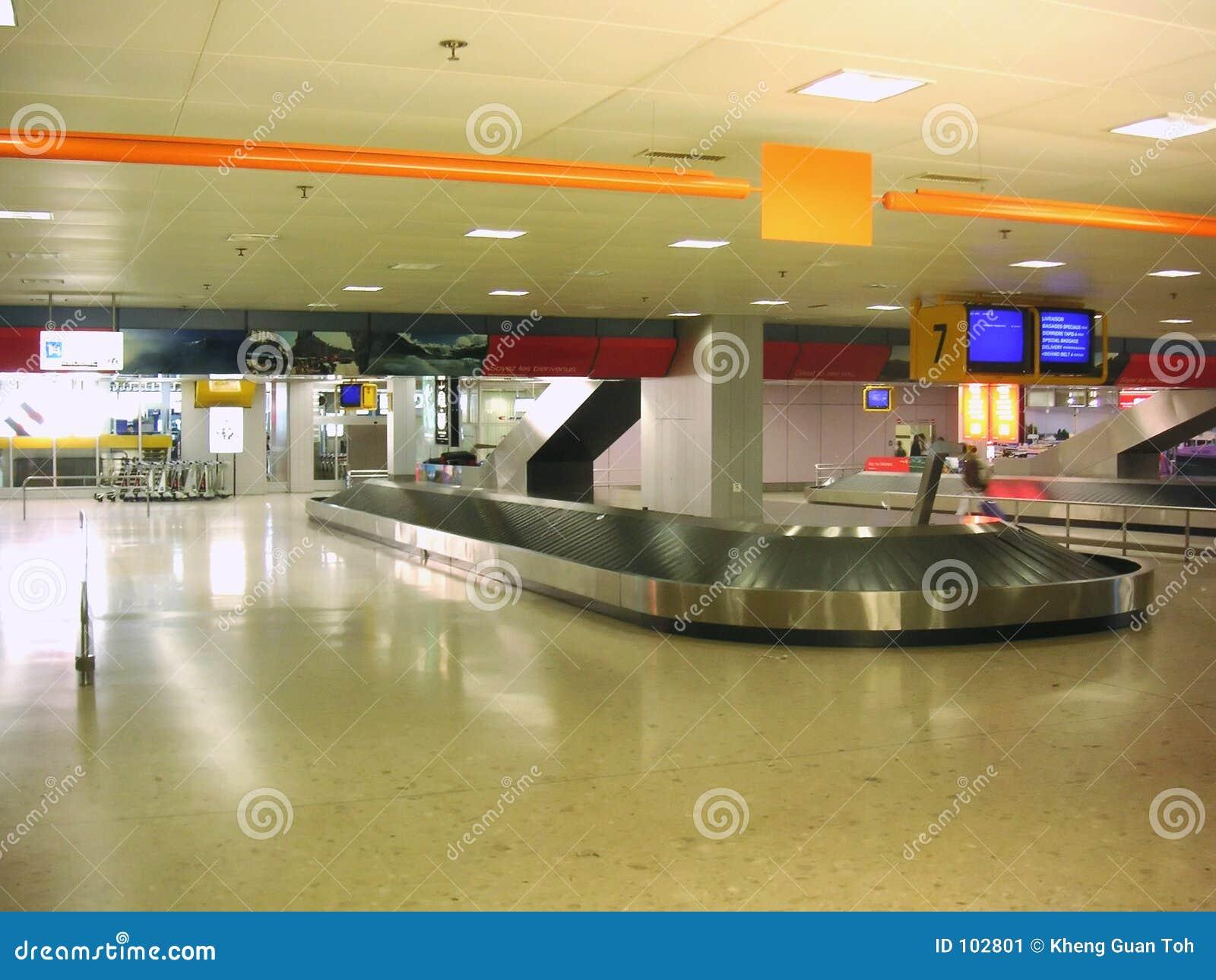 Download Airport baggage pickup stock image. Image of carousel, baggage - 102801