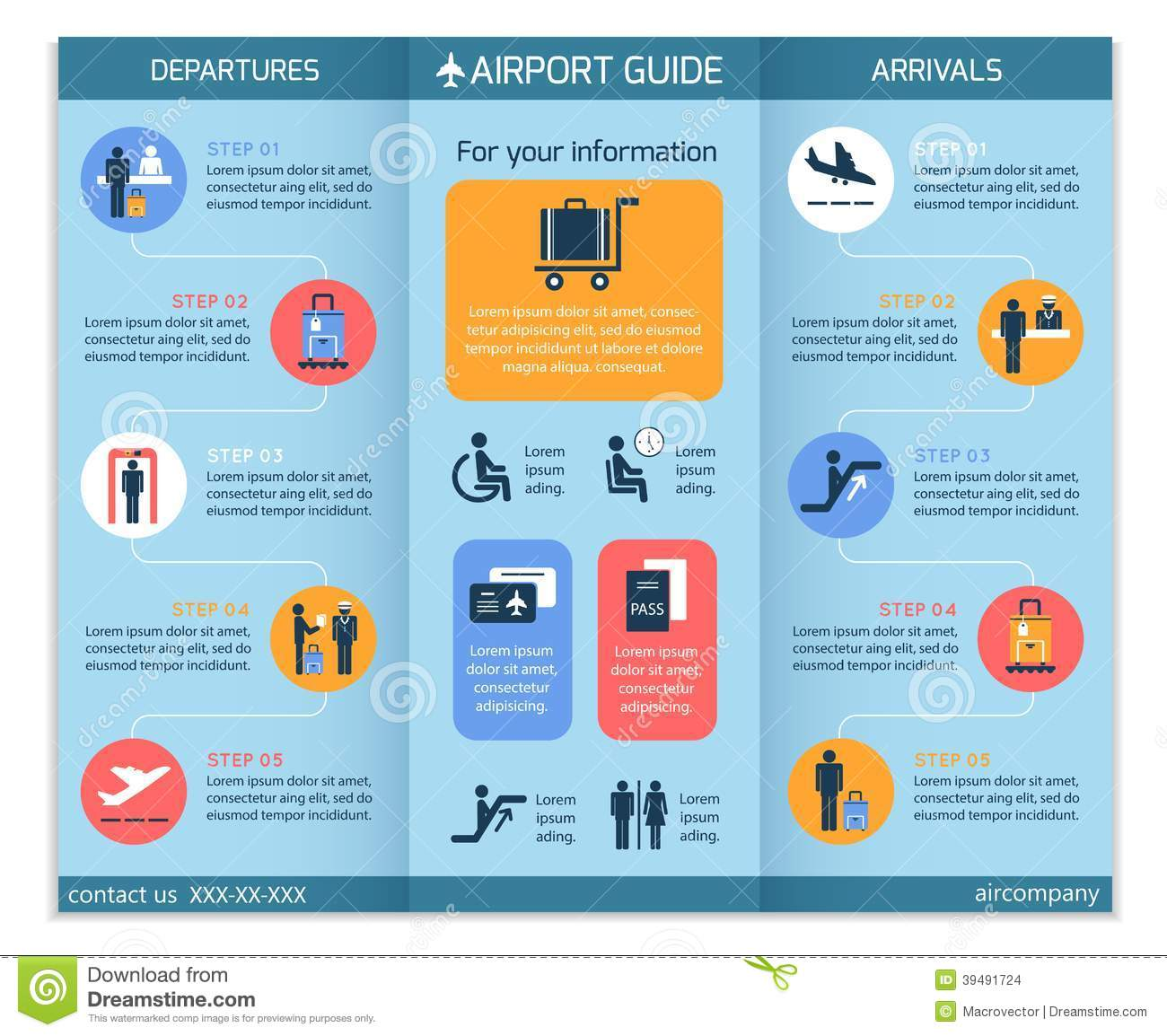 Brochure Of - Airport Illustration Vector Stock Business Information 39491724 Infographic Board
