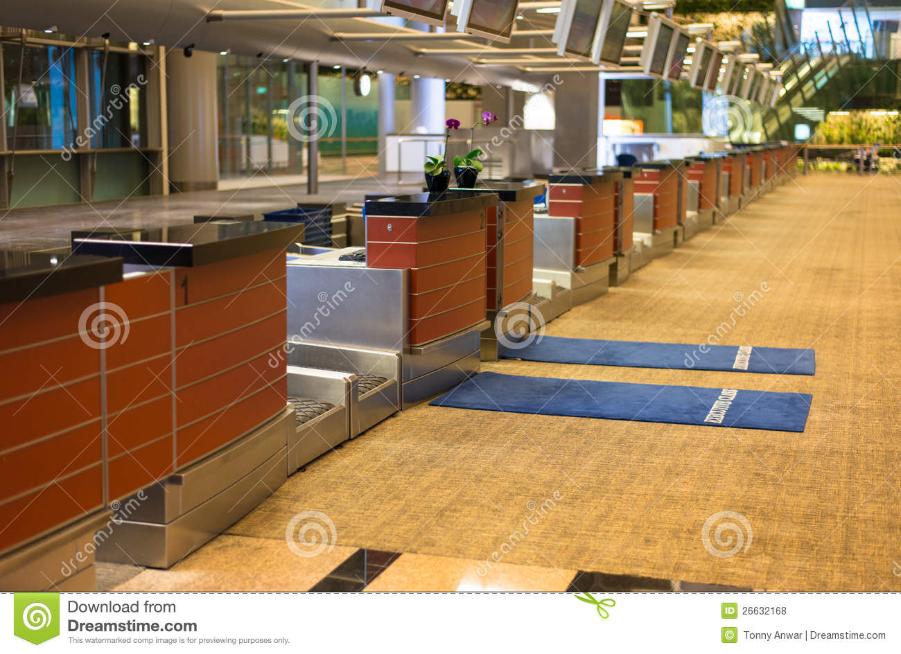 Airport Check In Counter Stock Photo Image Of Class