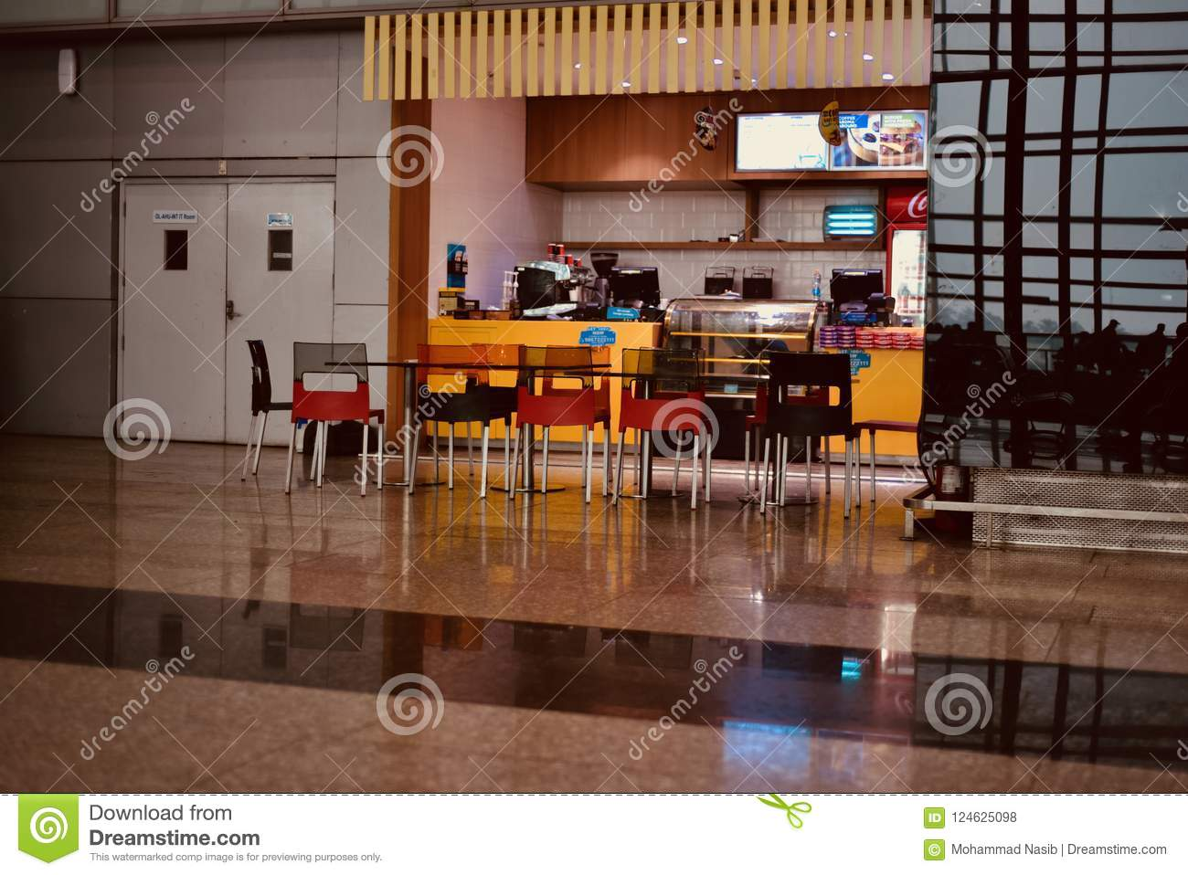 Download An Airport Coffee Shop Isolated Unique Photograph Editorial Stock Photo - Image of airport, abstract: 124625098