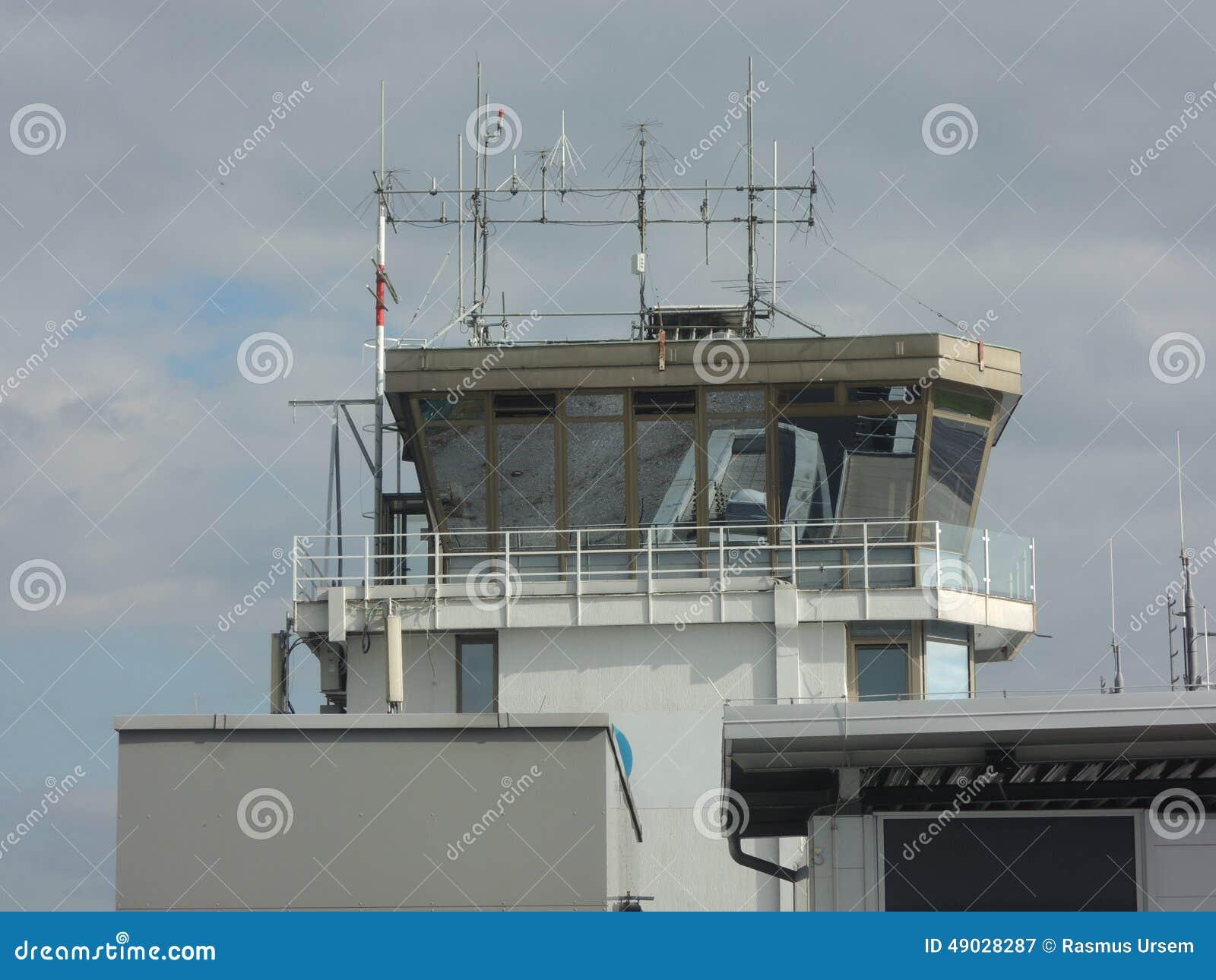 Airport control tower in Ljubljana, Slovenia