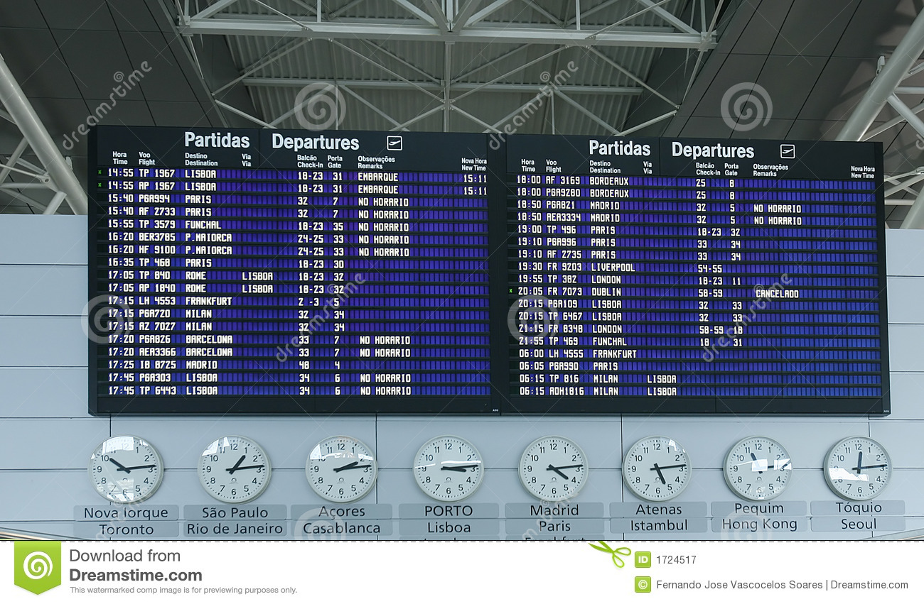 airport departure board information royalty free stock
