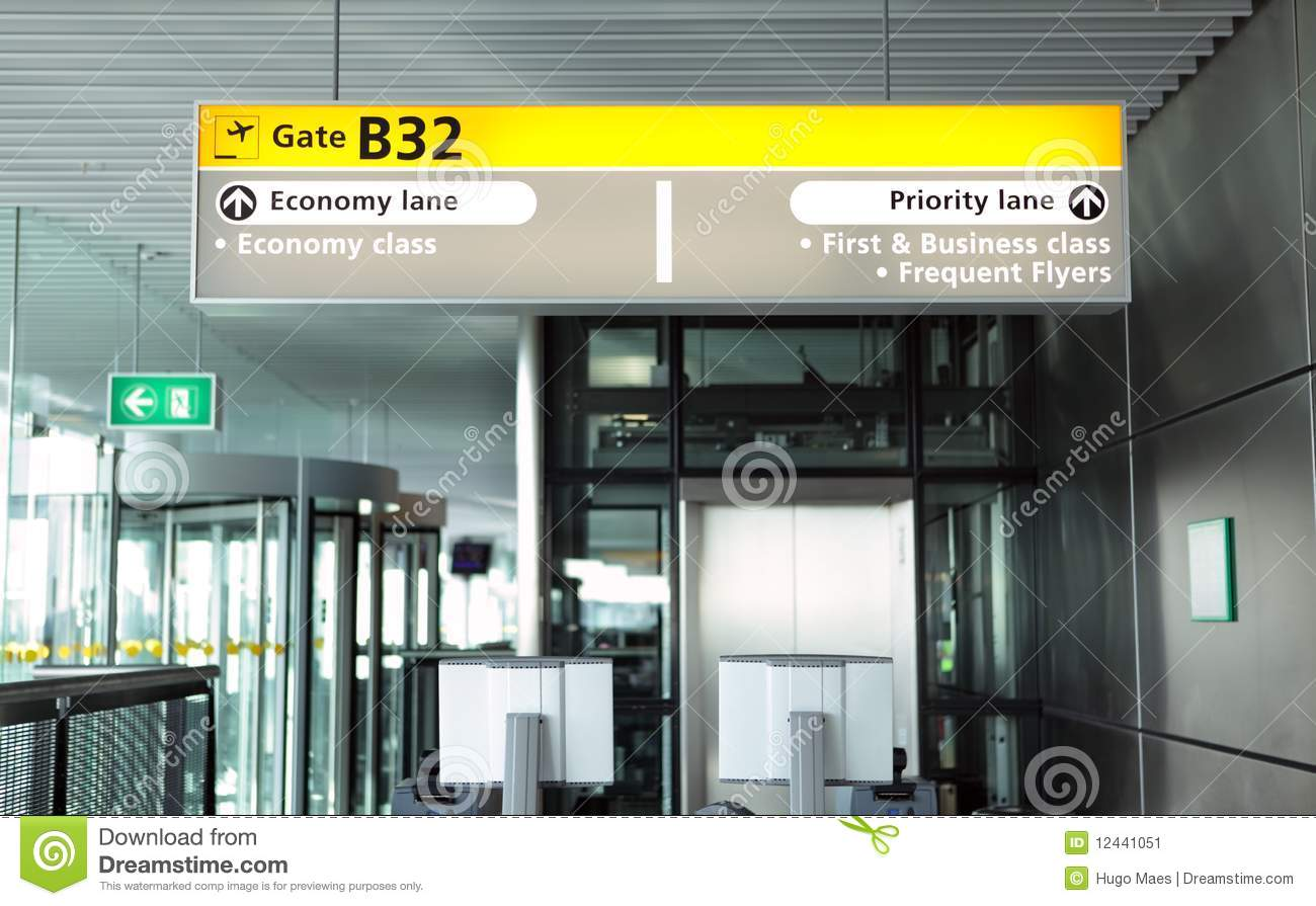 Airport Departure Gate Stock Image Of Frequent