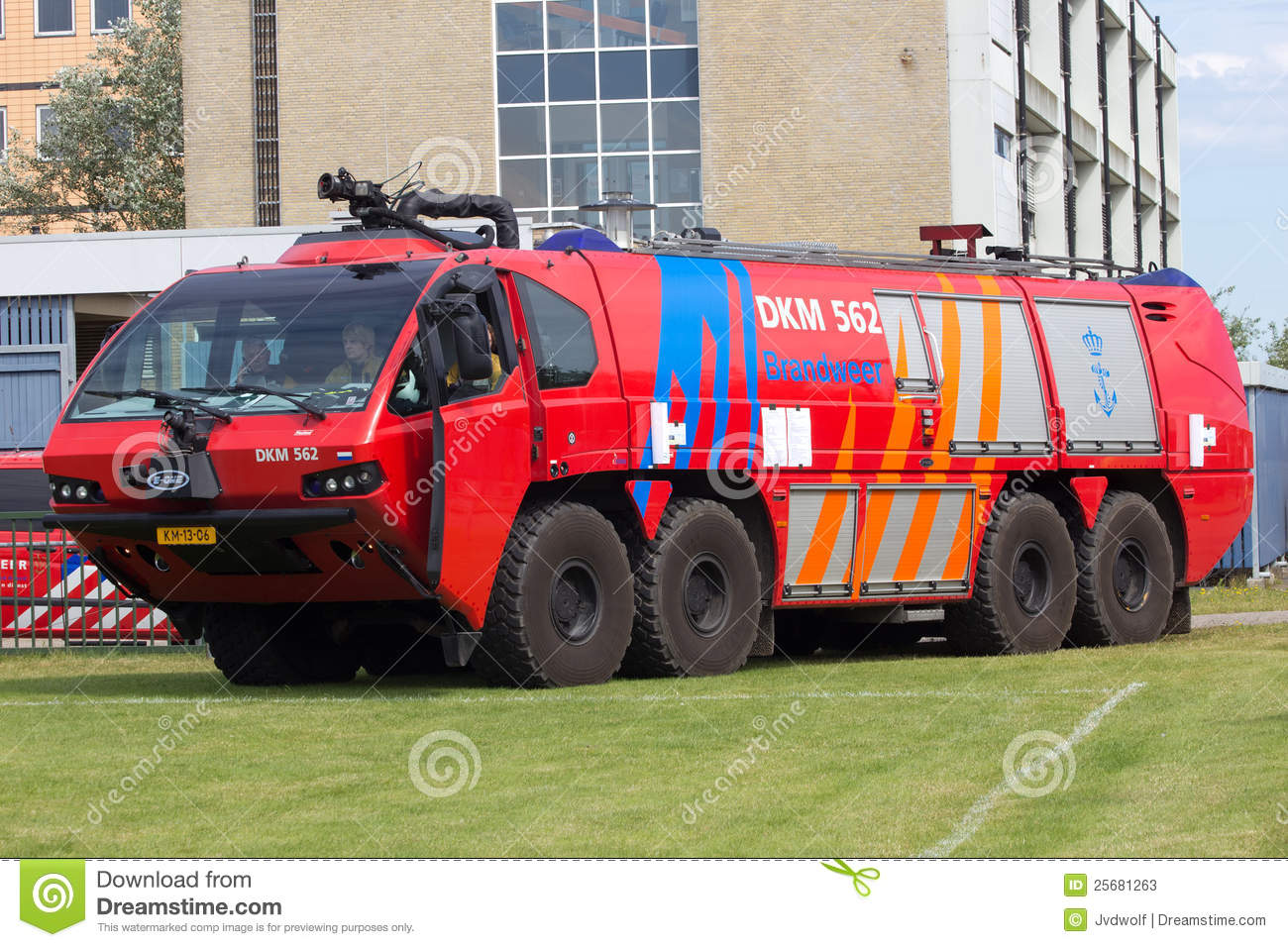 Airport Firetruck Editorial Stock Photo Image 25681263