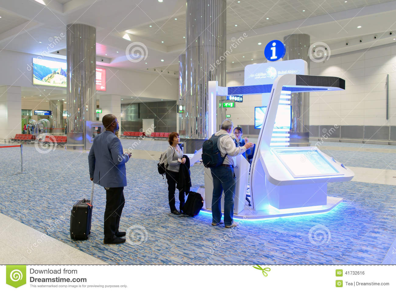 Airport Information Kiosk Editorial Photo Image 41732616