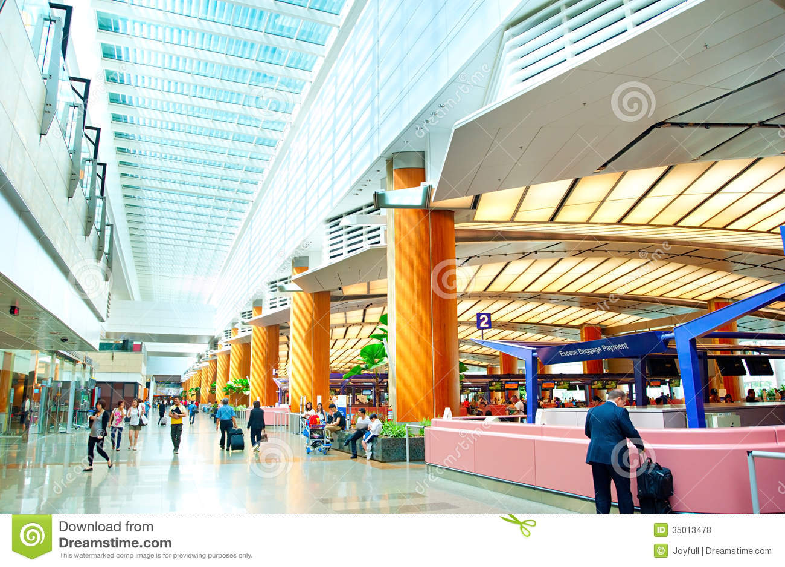 Airport Interior, Singapore Editorial Stock Photo - Image