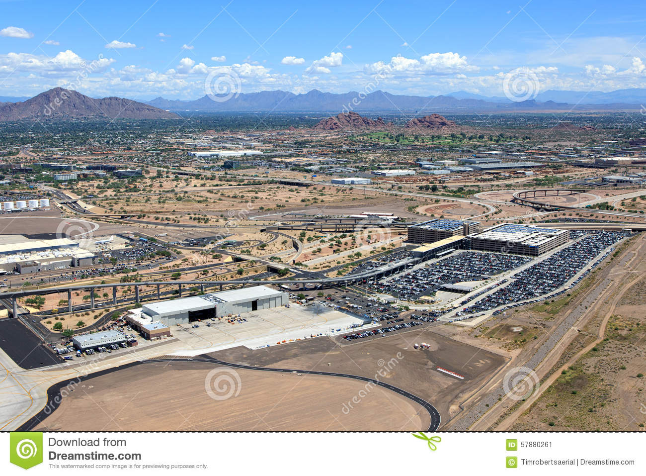 Airport Parking And Transportation Stock Image - Image of