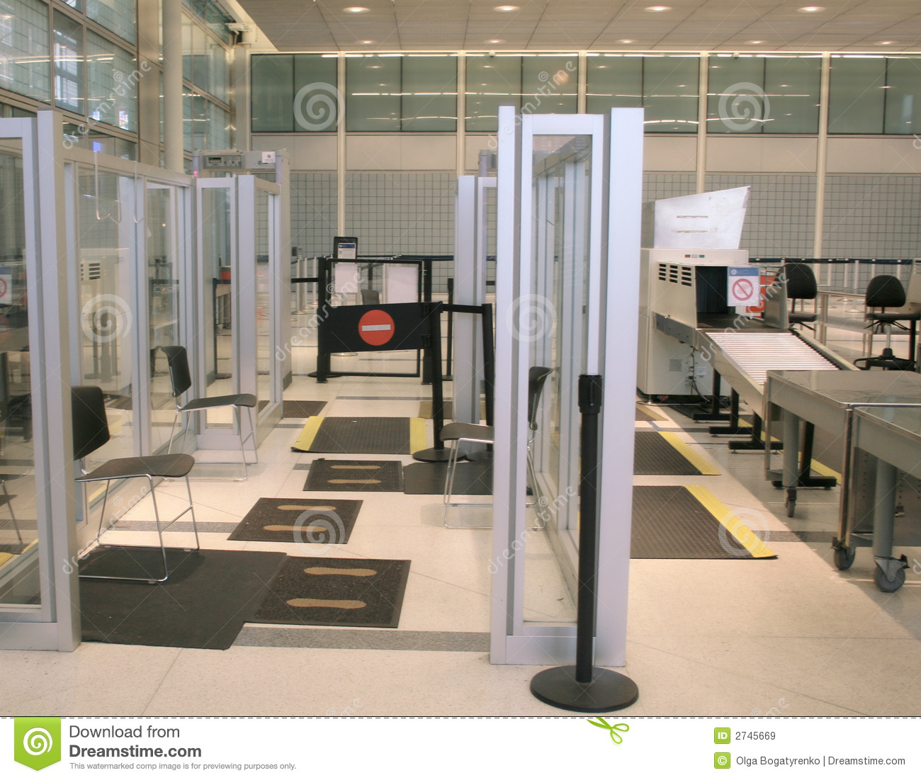 Airport Security Stock Image. Image Of Protection