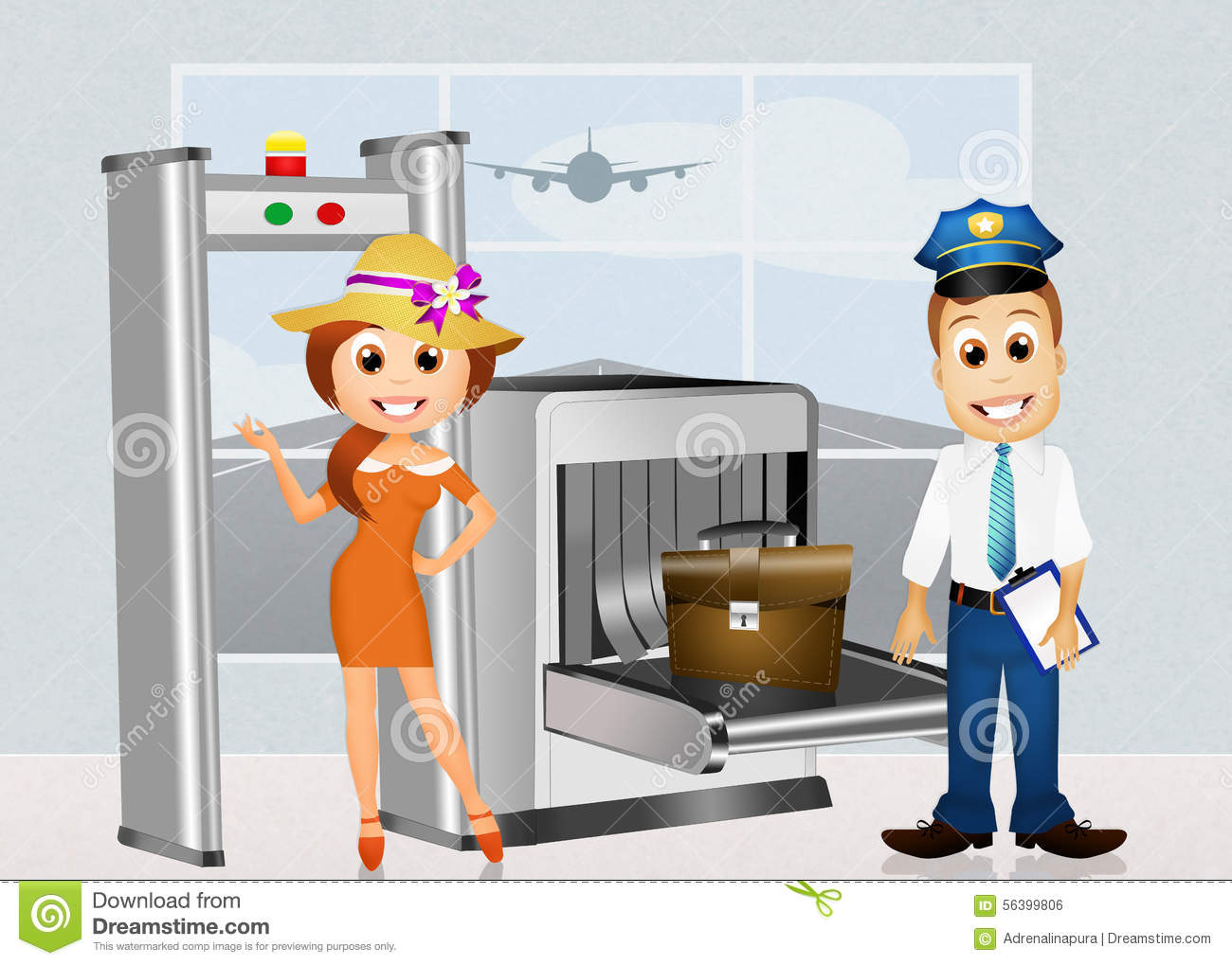 free clipart airport security - photo #12