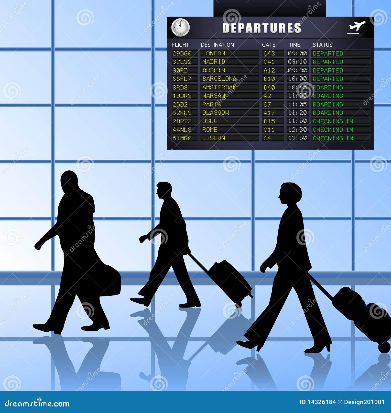 Airport - Set 1 - Passengers Departing Stock Images - Image: 14326184