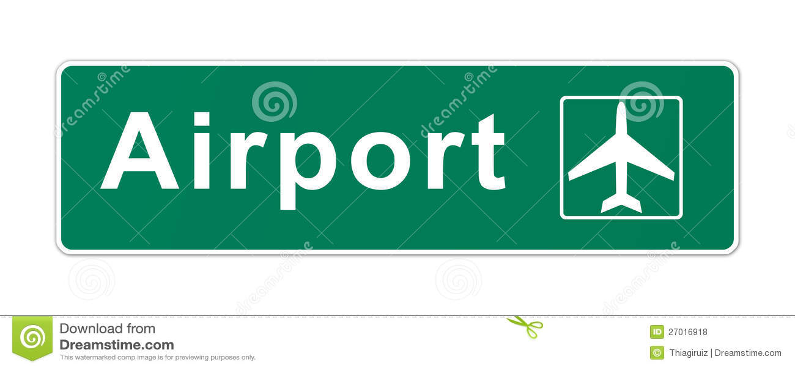 Airport Sign stock illustration. Illustration of info ...