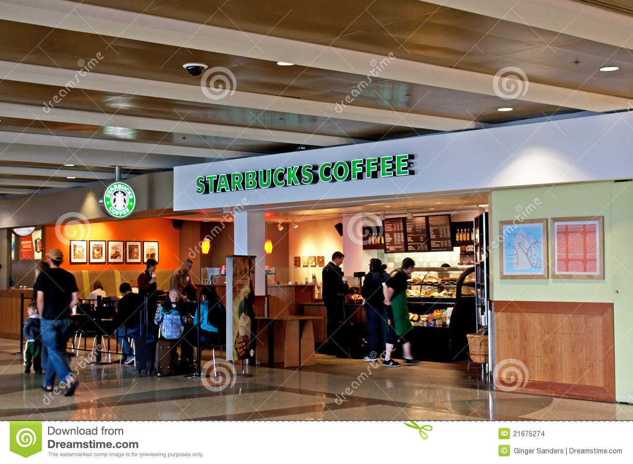 Airport Starbucks Coffee Shop Stock Images - Image: 21675274