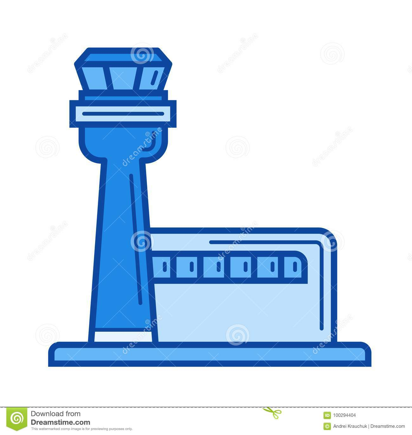 Airport Terminal Line Icon Stock Vector Illustration Of Radar