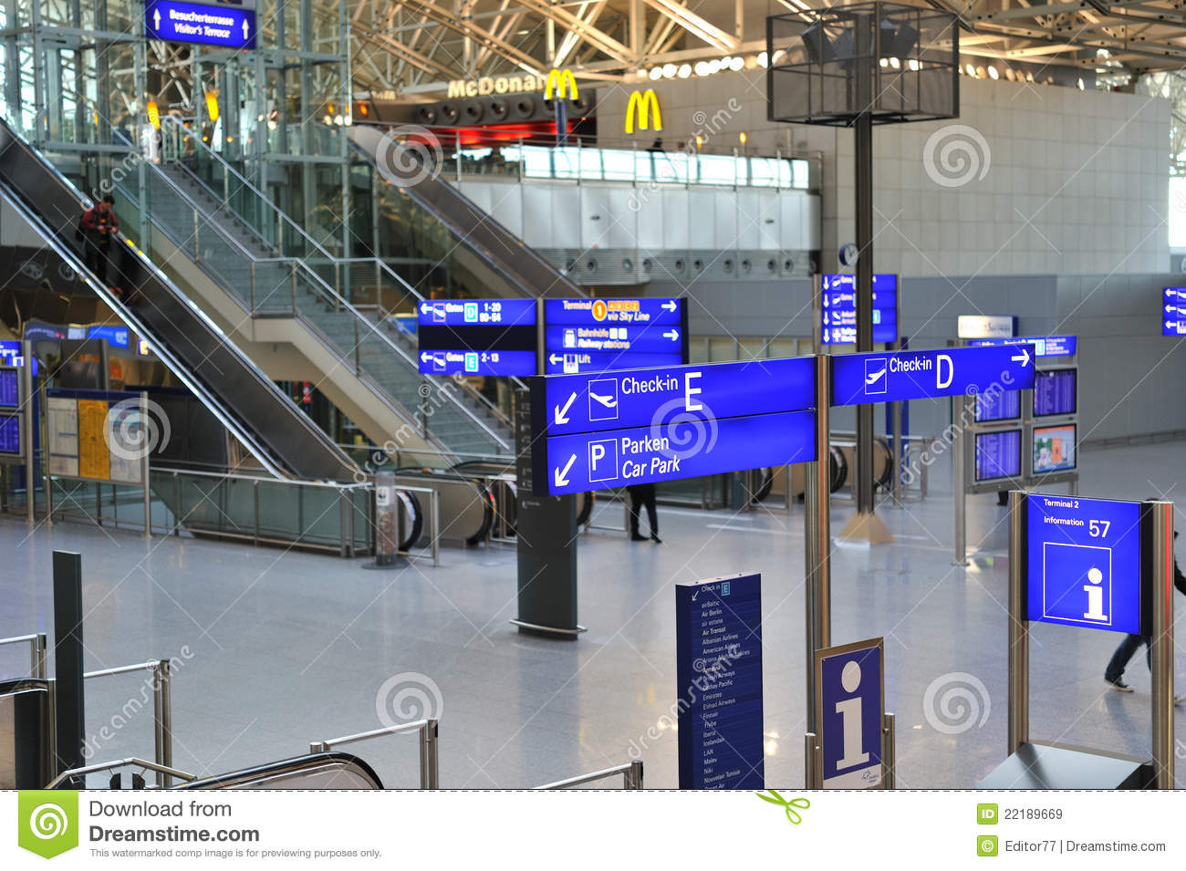 Airport Terminal For Passengers Editorial Stock Image Image Of Aircraft International 22189669