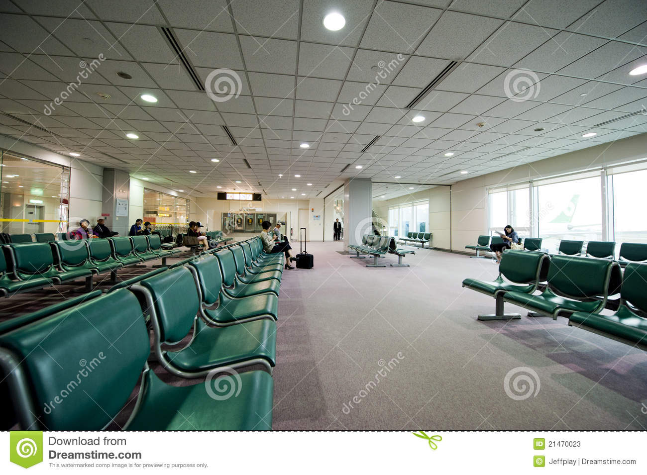 Airport Terminal Seating editorial stock photo. Image of ...