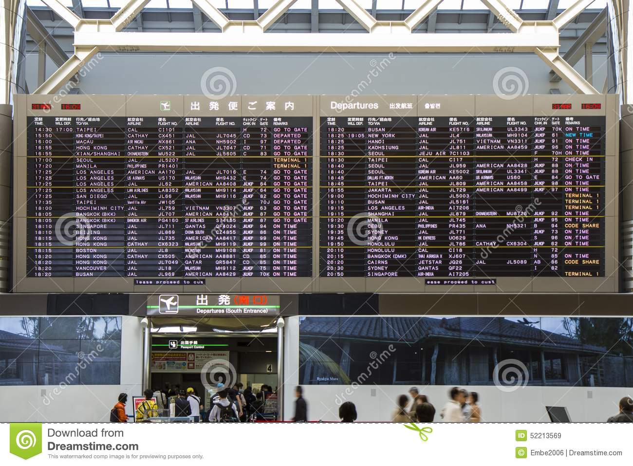 Airport Timetable Departure Schedule