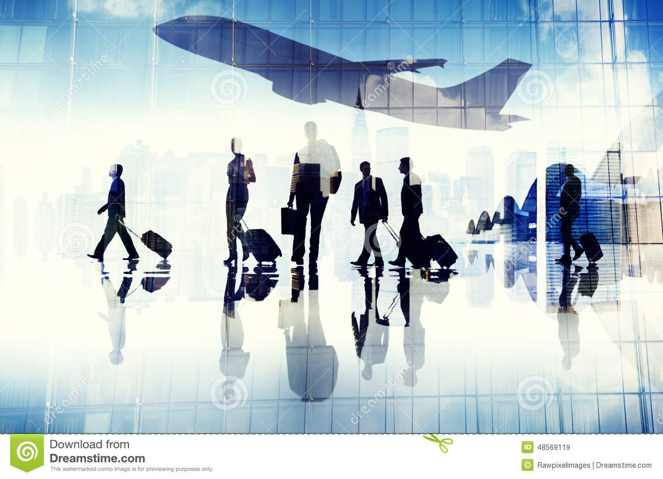 Airport Travel Business People Terminal Corporate Flight