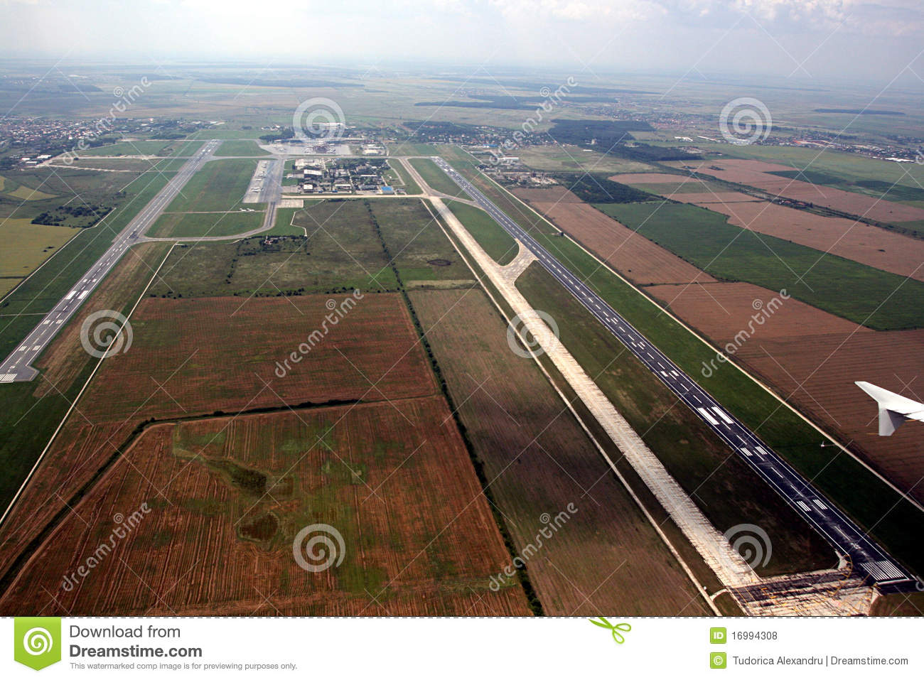 Download Airports from above stock photo. Image of airplane, aerodrome - 16994308