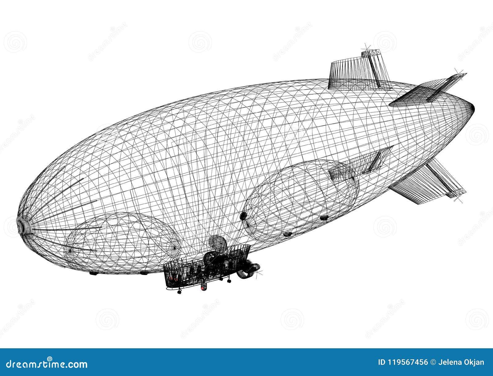 Airship design architect blueprint isolated stock illustration download airship design architect blueprint isolated stock illustration illustration of construction plane malvernweather Choice Image