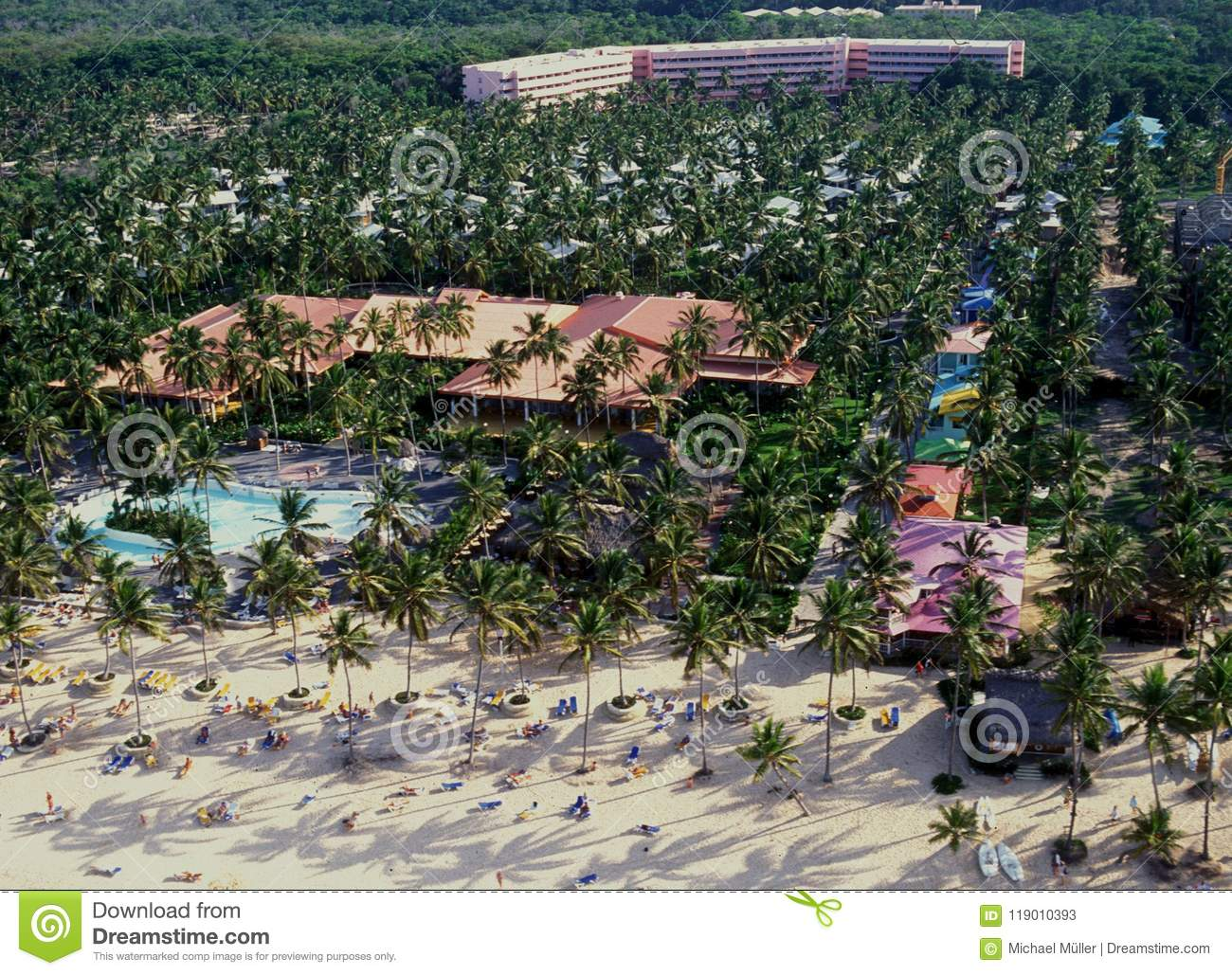 Dominican Republic Resorts >> Airshot From The Beach Holiday Resorts At Punta Cana In The