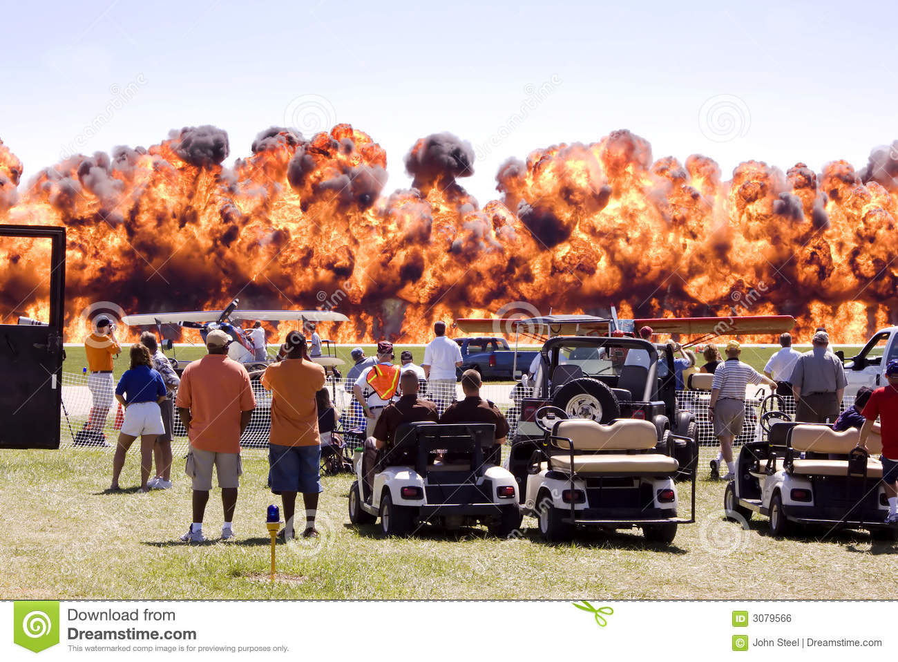 Airshow fire