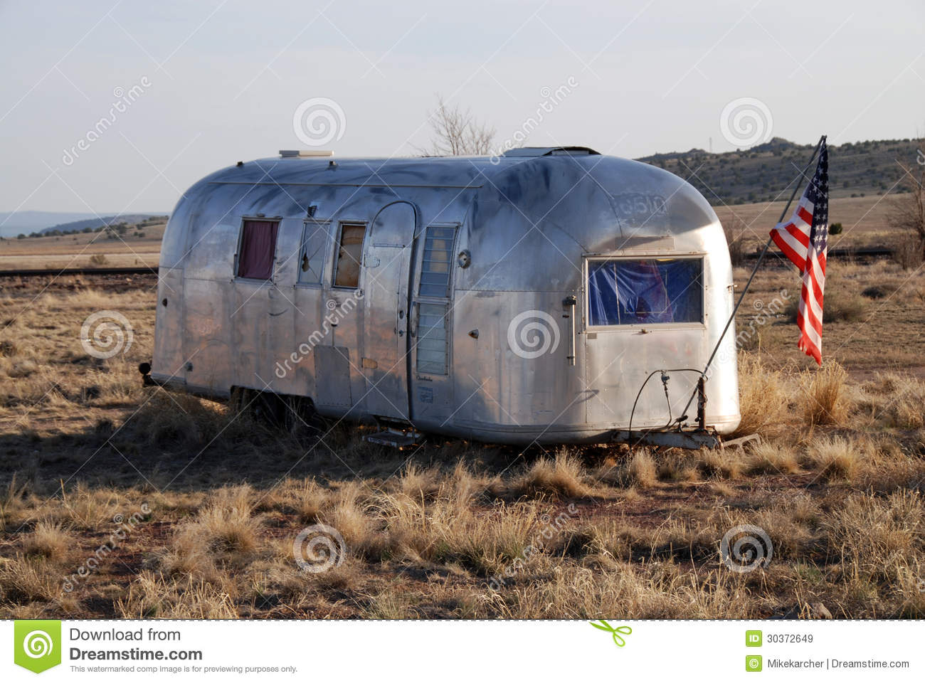 Airstream Trailer Stock Image Image Of Housing American