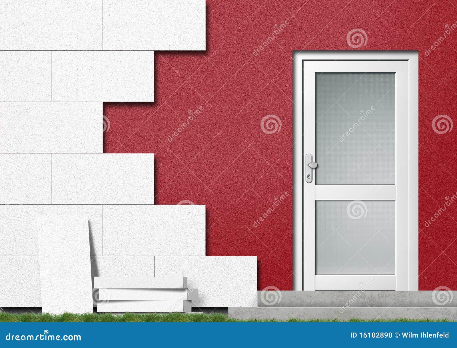 Aislamiento de un frente de la casa