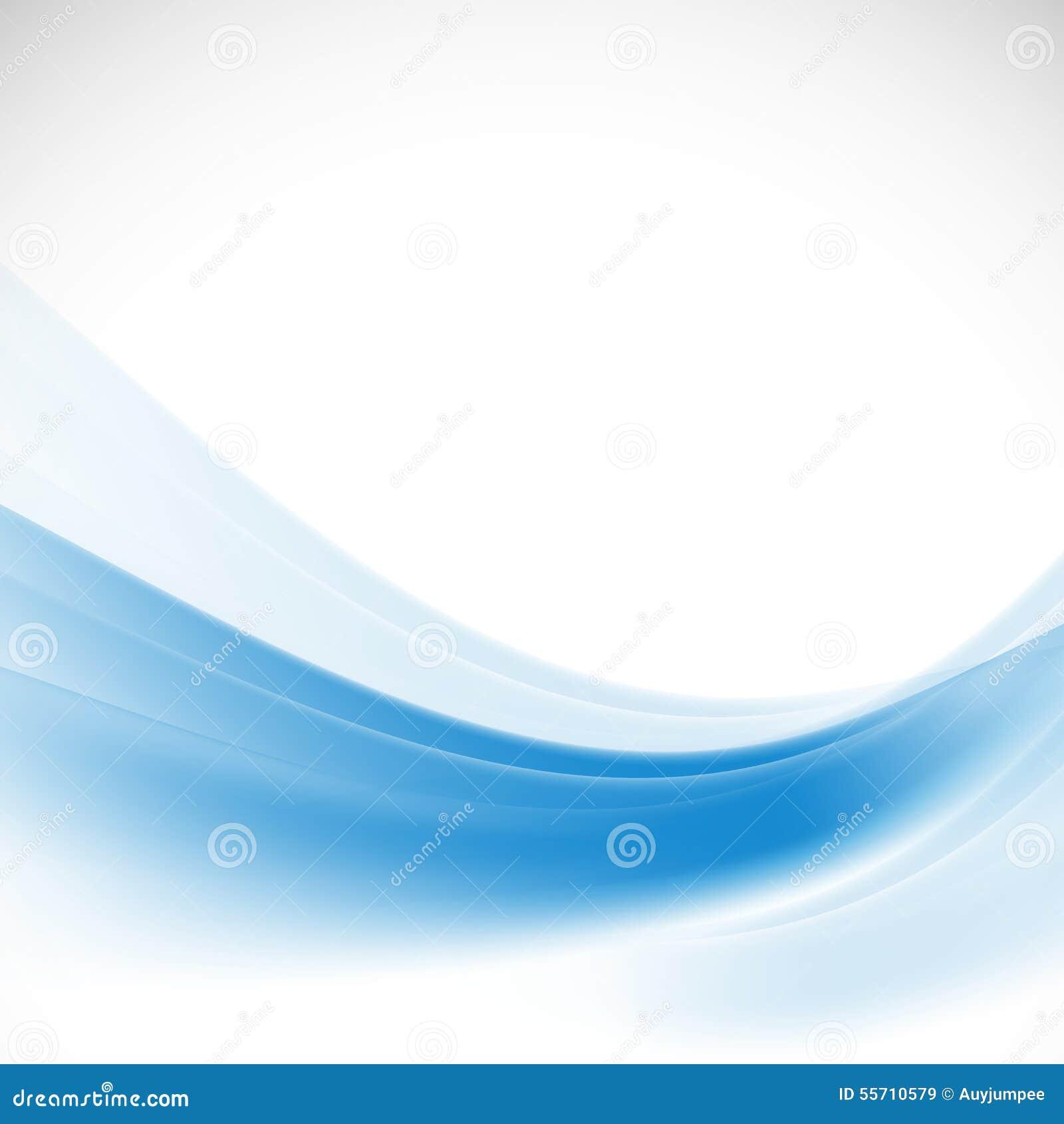 Aislante azul liso abstracto del fondo de la onda en el fondo, el vector y el ejemplo blancos