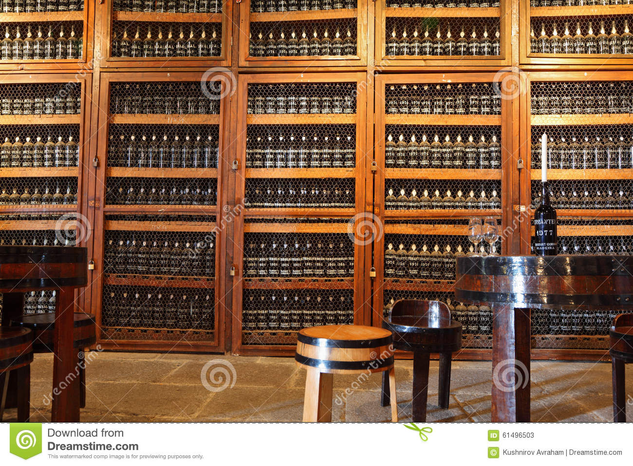 Round Table Madera.In The Aisle Is A Round Table And Stools Editorial Stock Photo