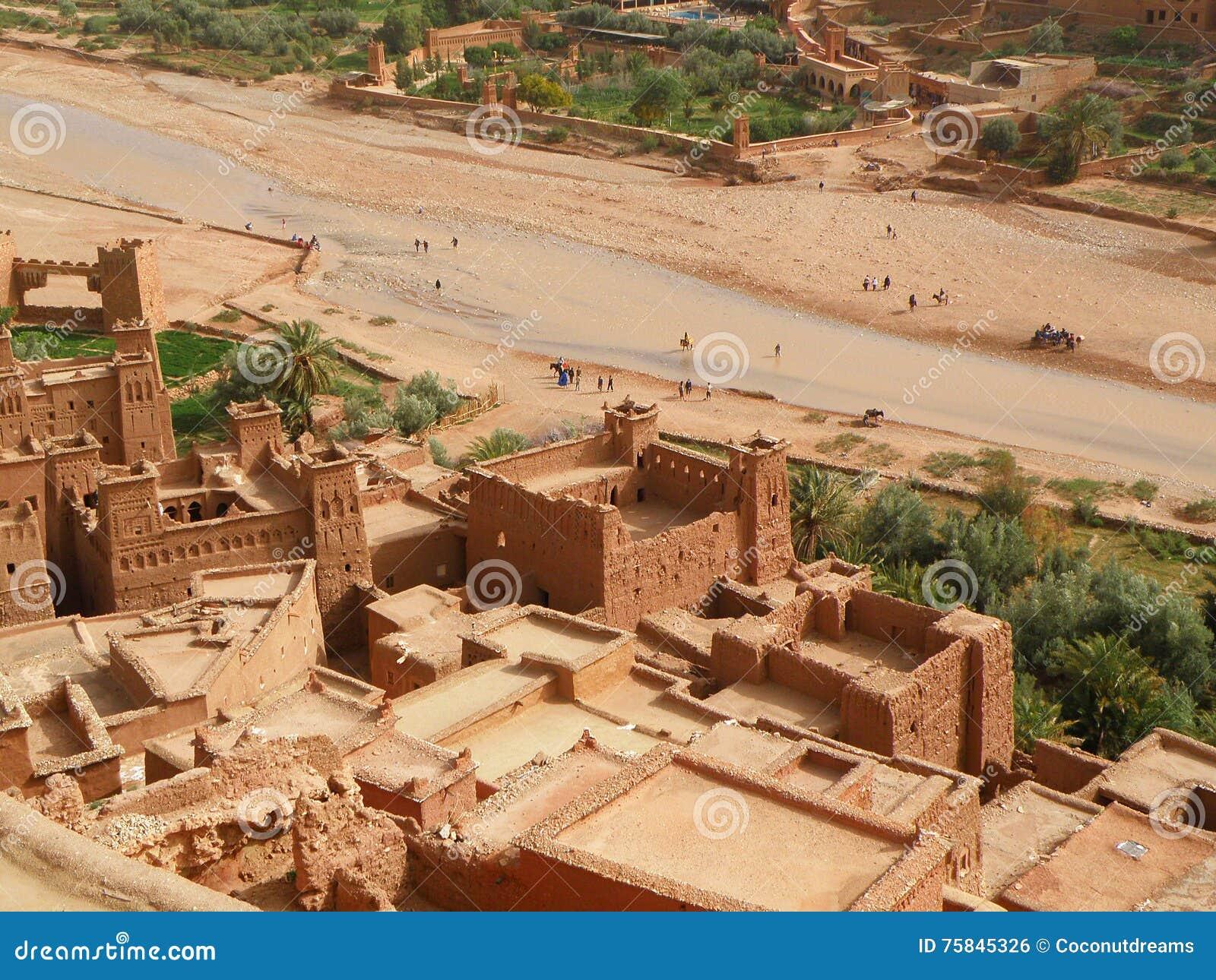 AIT-Ben-Haddou, la ville enrichie antique au Maroc