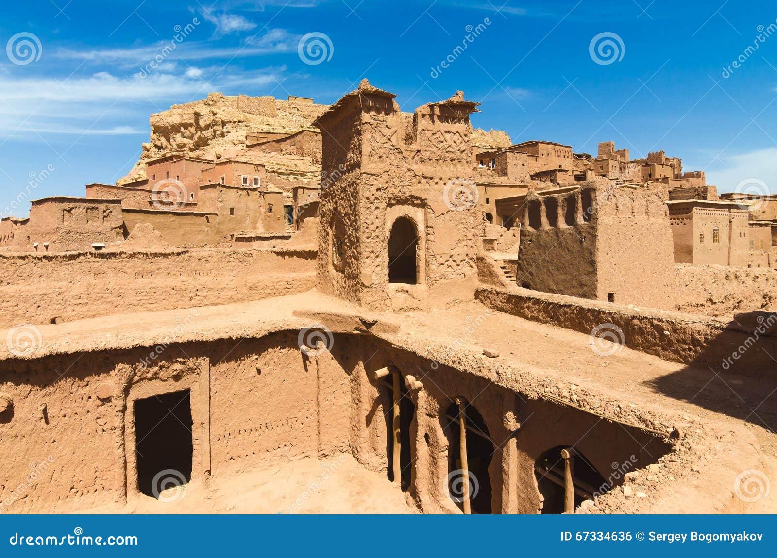 Ait Benhaddou, cidade fortificada, kasbah ou ksar em Ouarzazate, Marrocos